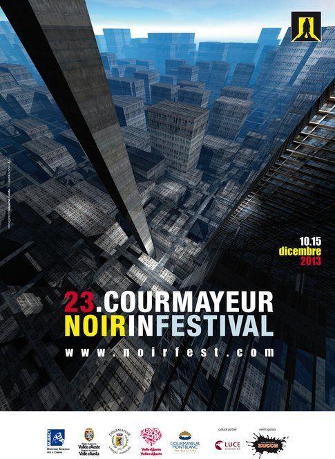 Locandina del Courmayeur Noir in Festival 2013 - immagine da pagina ufficiale festival