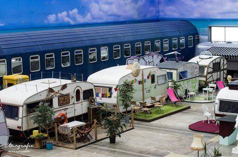 BaseCamp Bonn. Il dentro: un parco di rulotte