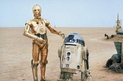 D3BO (C3PO) e C1P8 (R2-D2) - foto Scifi.about.com