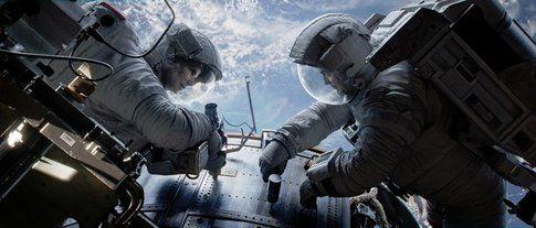 Una scena di Gravity - foto da movieplayer.it