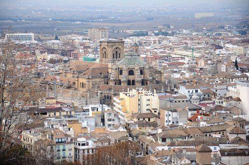 Vista della Cattedrale dall'Alhambra