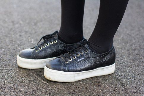 Il mio Look: osa con un paio di pantaloncini in lana! Superga Sneakers