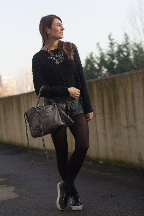 Il mio Look: osa con un paio di pantaloncini in lana!