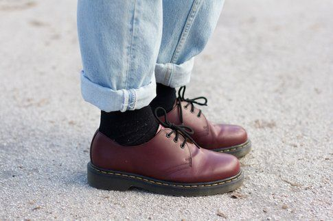Outfit per il weekend: jeans vintage - Dr Martens