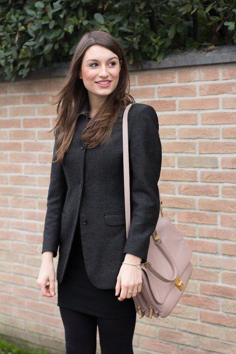 Il mio Outfit: Tubino Nero e Blazer Vintage