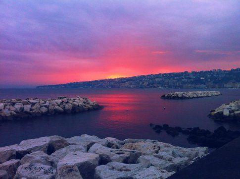 Tramonto sul Golfo di Napoli - Foto Viachesiva
