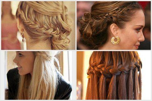Trecce di lato capelli corti