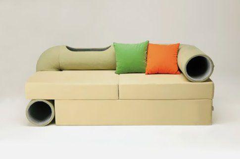 Seungji Mun - Cat tunnel sofa