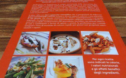 Il retro della copertina del libro, L a nuova Dieta Mediterranea