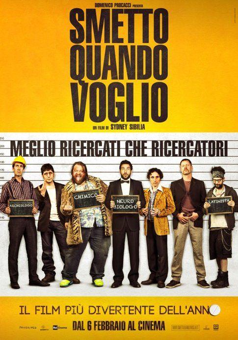 """Locandina di """"Smetto quando voglio"""" - immagine da movieplayer.it"""