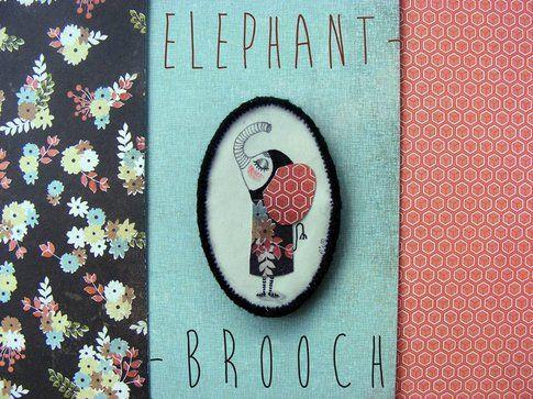 Noe's Mind - Elephant brooch