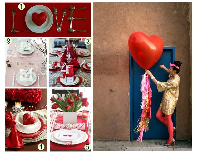 come allestire la tavola per san valentino