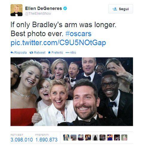 Dall'account Twitter di Ellen Degeneres