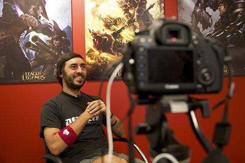 Mirko pronto per essere intervistato da Italian Dreamtime - Foto di Oriana Pagano