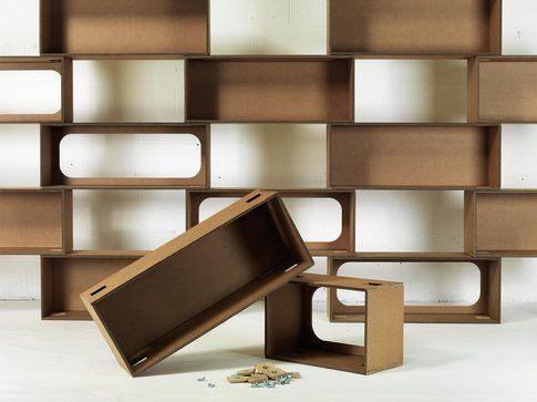 Lessmore collezione Ecodesign. Libreria Mattoni
