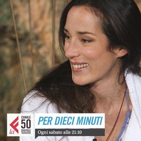 """Chiara Gamberale conduce """"Dieci minuti"""" - foto da account facebook laeffe"""