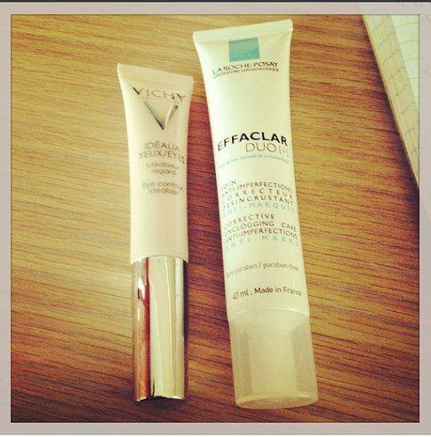 Vichy Idealia Occhi e La Roche Posay Effaclar Duo - Fonte - @bigodino_it su Instagram
