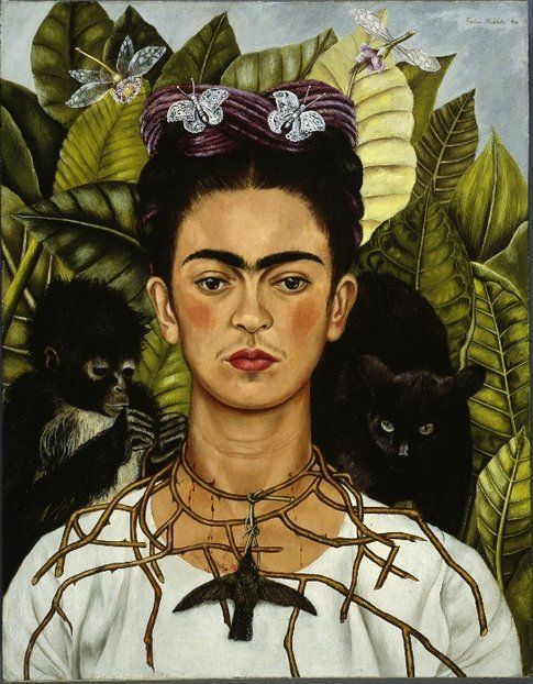 Frida Kahlo. Autoritratto con collana di spine© Banco de México Diego Rivera & Frida Kahlo Museums Trust by SIAE 2014