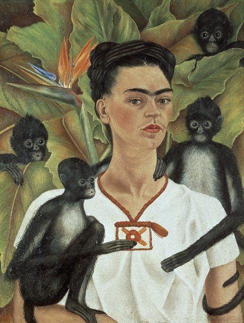 Frida Kahlo. Autoritratto con scimmie© Banco de México Diego Rivera & Frida Kahlo Museums Trust by SIAE 2014