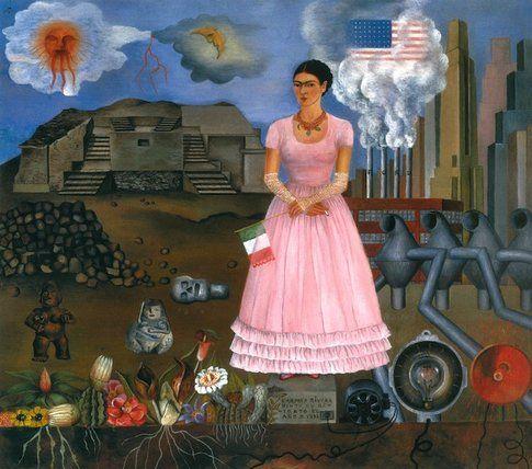 Frida Kahlo. Autoritratto al confine tra Messico e Stati Uniti© Banco de México D. Rivera & F. Kahlo Museums Trust by SIAE 2014