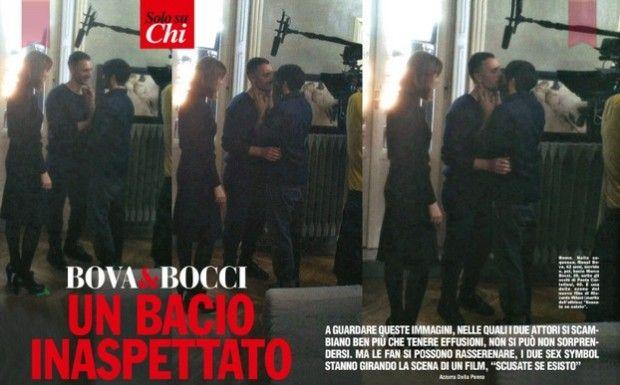 Marco Bocci e Raoul Bova: baci hot sul set