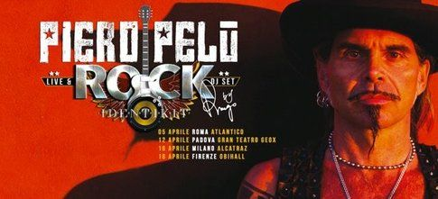 Locandina di Rock Identikit tour - Foto Facebook.com/pieropelufficiale