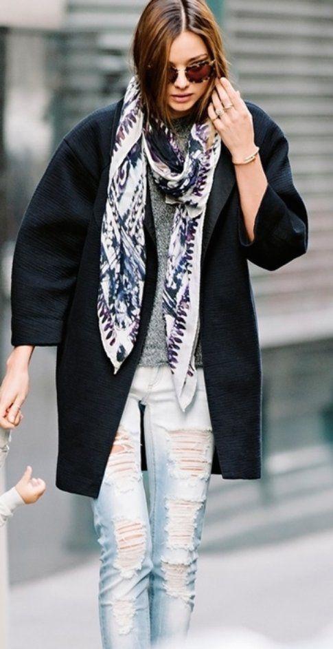 Miranda Kerr indossa il ripped jeans :nuovo o DIY?