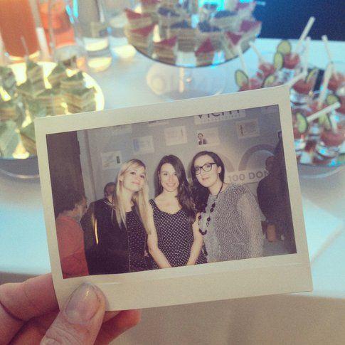 Carlotta (al Centro) all'evento Vichy insieme a AliceLikeAudrey e ad Alessandra Nido