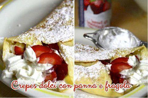 Crepes dolci con Spray Pan e fragola