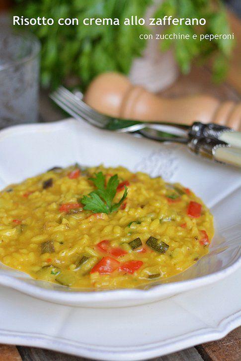 il risotto alla zafferano e verdure di Ramona