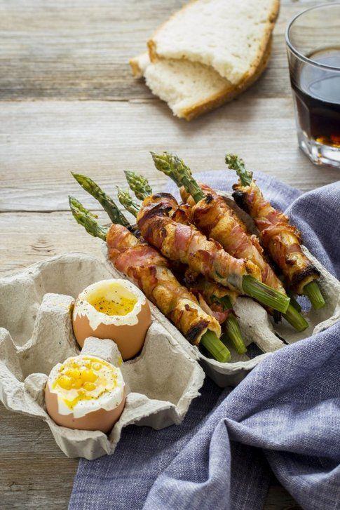 asparagi e pancetta con le uova alla coque di Sonia