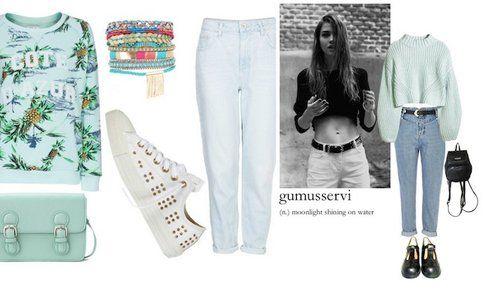 Pasquetta fuori porta: le nostre proposte di Look! - Look Jeans Vintage - Fonte: Polyvore