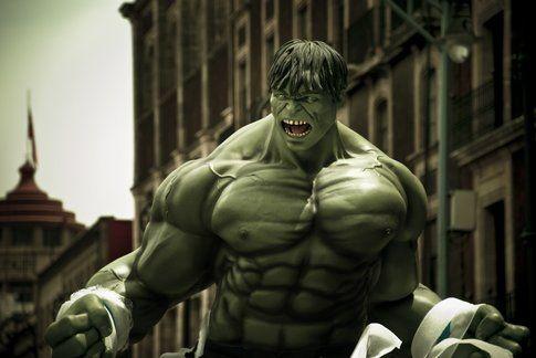Hulk dopo che ha preso la fune