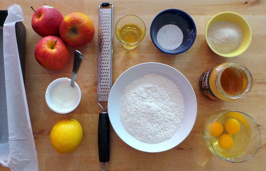 ingredienti per plumcake alle mele soffice