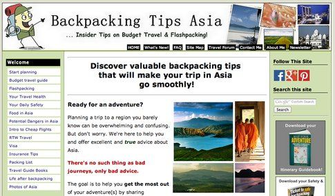 Backpacking-tips Asia
