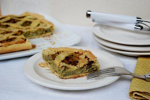 Torta rustica carciofi e porro. Ricetta e foto di Roberta Castrichella.