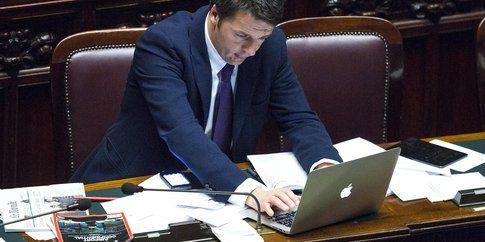 Matteo Renzi - foto Lapresse via Huffington Post
