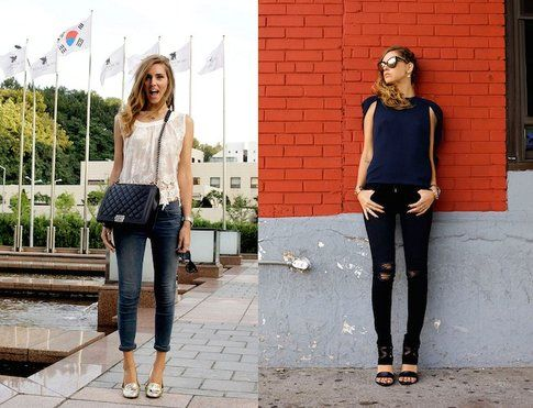 Modello Skinny Jeans indossato da Chiara Ferragni (theblondesalad.com )