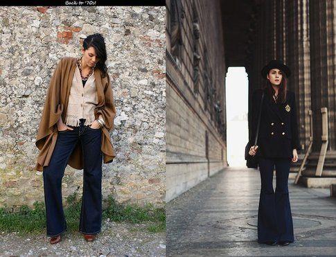 Modello Jeans a Zampa indossato da Irene Colzi e Any Torres (irenescloset.com stylescrapbook.com)