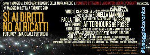 Locandina del 1° maggio di lotta a Taranto