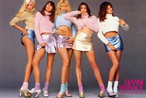 Gianni Versace anni '90 advertising