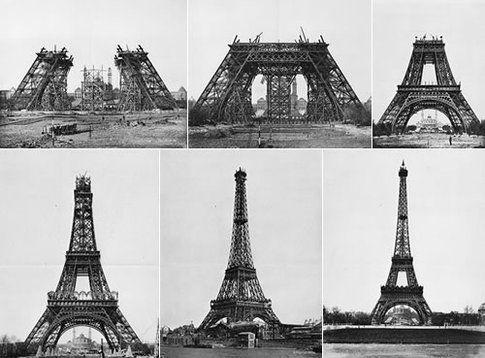 Tour Eiffel in costruzione by http://static.neatorama.com/