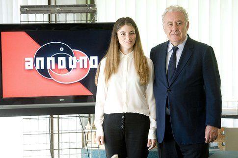 Giulia Innocenzi e Michele Santoro alla presentazione di Anno Uno