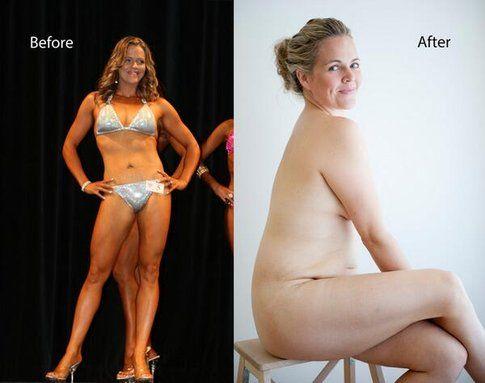 """Taryn Brumfitt """"prima e dopo"""" - foto Body Image Movement"""