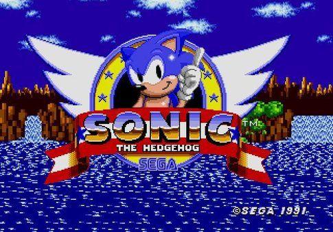 Menù d'avvio del primo Sonic (fonte Multiplayer.it)