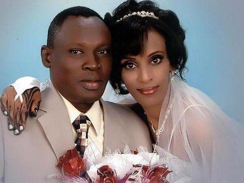 Daniel Wani e Meriam il giorno delle nozze