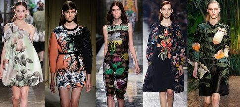 Antonio Marras, Aquilano Rimondi, Christopher Kane, Dries Van Noten, Hermès SS 2014 Flowers Trend