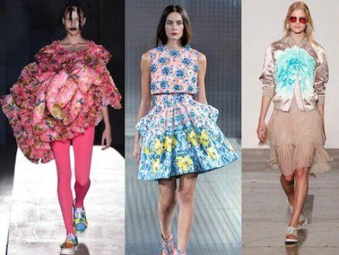 Comme des Garçons, Mary Katrantzou, Jonathan Saunders, SS 2014 Flowers Trend