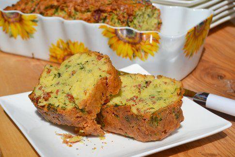 Plumcake salato con spinaci e prosciutto. Ricetta e foto di Roberta Castrichella.
