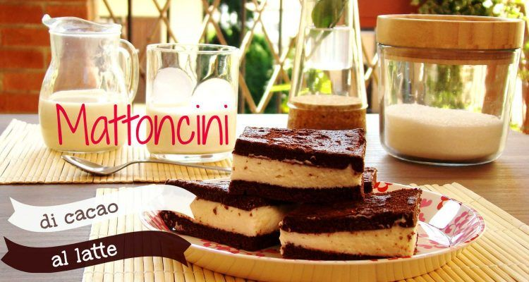 Merendine fatte in casa mattoncini di cacao al latte for Cose fatte in casa